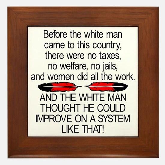 Before The White Man Came Framed Tile