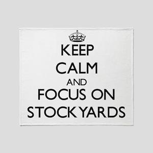 Keep Calm and focus on Stockyards Throw Blanket
