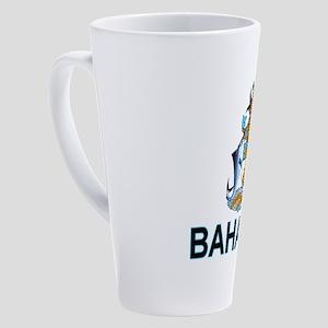 bahamas-arms-labeled 17 oz Latte Mug
