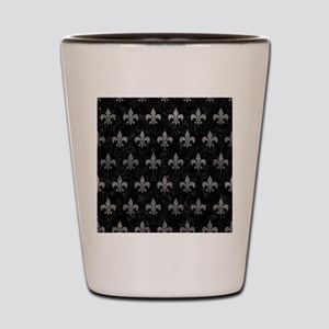 ROYAL1 BLACK MARBLE & GRAY LEATHER (R) Shot Glass