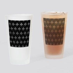 ROYAL1 BLACK MARBLE & GRAY LEATHER Drinking Glass