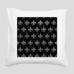 ROYAL1 BLACK MARBLE & GRAY LE Square Canvas Pillow