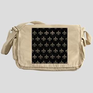 ROYAL1 BLACK MARBLE & GRAY LEATHER ( Messenger Bag