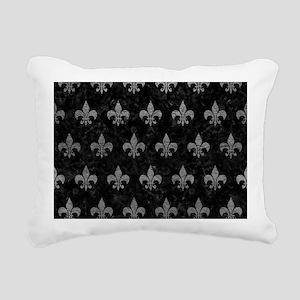 ROYAL1 BLACK MARBLE & GR Rectangular Canvas Pillow