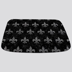 ROYAL1 BLACK MARBLE & GRAY LEATHER (R) Bathmat
