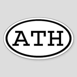 ATH Oval Oval Sticker