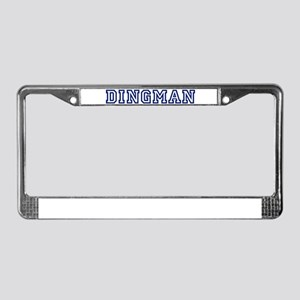 DINGMAN University License Plate Frame