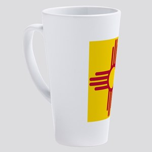 New Mexico Flag Yellow 17 oz Latte Mug