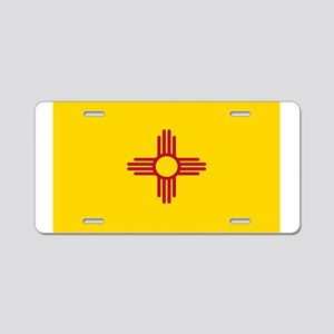 New Mexico Flag Yellow Aluminum License Plate