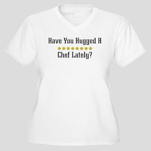 Hugged Chef Women's Plus Size V-Neck T-Shirt