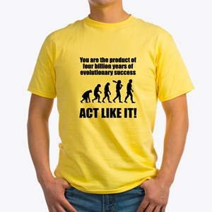 Evolutionary Success Yellow T-Shirt