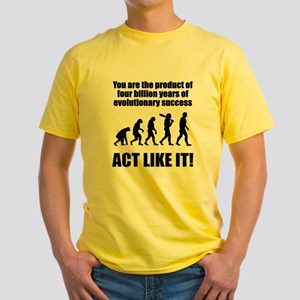 Evolutionary Success Yellow T-Shirt