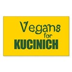 Vegans for Kucinich Rectangle Sticker