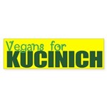 Vegans for Kucinich Bumper Sticker