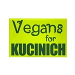 Vegans for Kucinich Rectangle Magnet (100 pack)