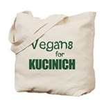 Vegans for Kucinich Tote Bag