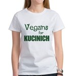 Vegans for Kucinich Women's T-Shirt