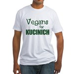 Vegans for Kucinich Fitted T-Shirt