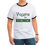 Vegans for Kucinich Ringer T-Shirt