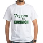 Vegans for Kucinich White T-Shirt