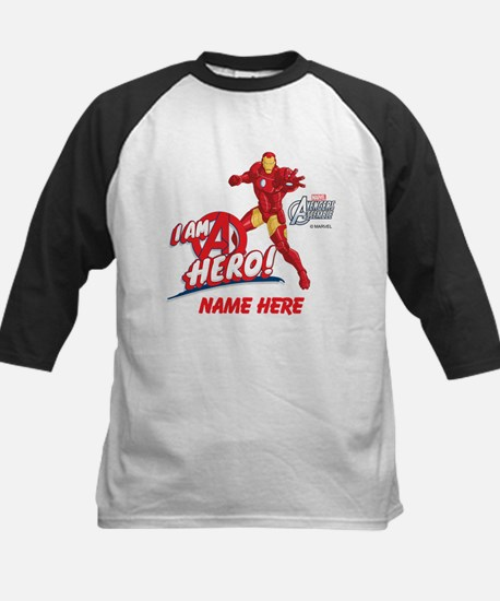 Avengers Assembled Iron Man P Kids Baseball Jersey