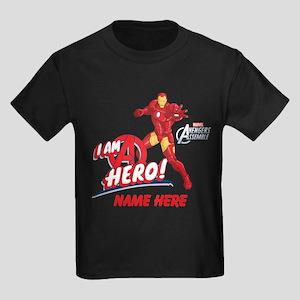 Avengers Assembled Iron Man Pers Kids Dark T-Shirt