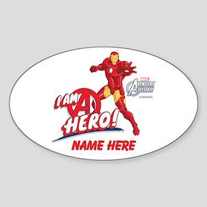 Avengers Assembled Iron Man Persona Sticker (Oval)