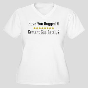 Hugged Cement Guy Women's Plus Size V-Neck T-Shirt
