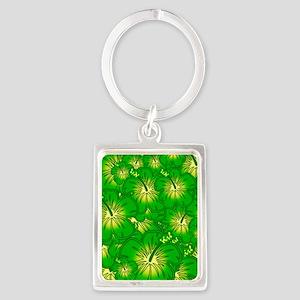 Green hibiscus Keychains