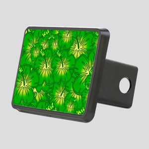 Green hibiscus Hitch Cover