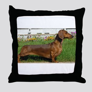 dachshund full Throw Pillow