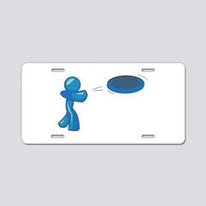 Frisbee Man Aluminum License Plate