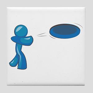 Frisbee Man Tile Coaster