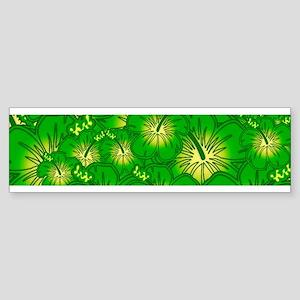 Green hibiscus Bumper Sticker