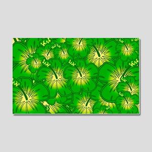 Green hibiscus Car Magnet 20 x 12