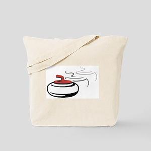 3 Curling Stone Motif - Tote Bag