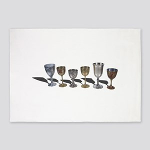 A variety of wine chalices 5'x7'Area Rug