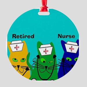 Retired Nurse FF 6 Round Ornament