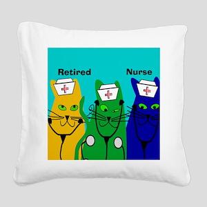 Retired Nurse FF 6 Square Canvas Pillow