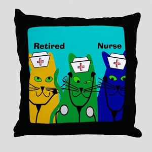 Retired Nurse FF 6 Throw Pillow
