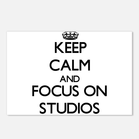 Keep Calm and focus on St Postcards (Package of 8)