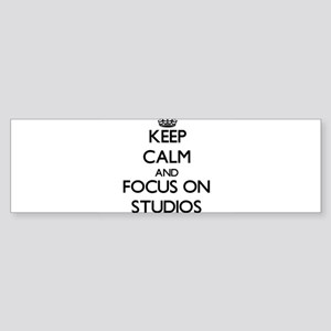 Keep Calm and focus on Studios Bumper Sticker
