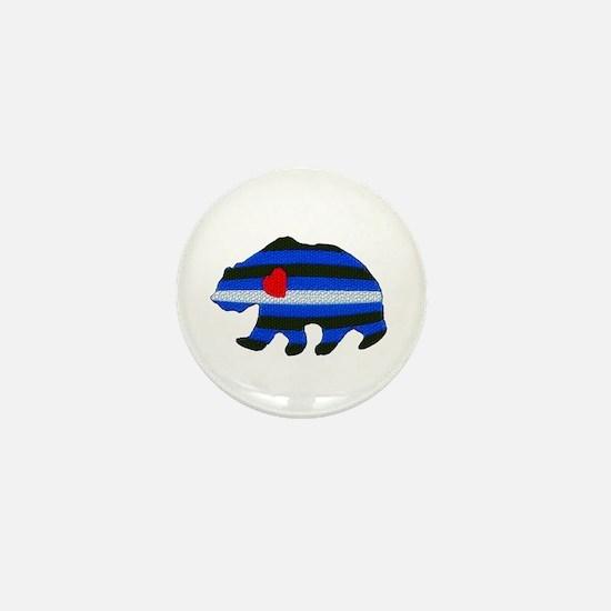 LEATHER BEAR TEXTURED Mini Button