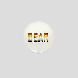 BEAR-FURRY LOOK-PRIDE COLORS Mini Button