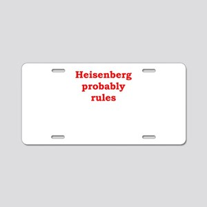 probability Aluminum License Plate