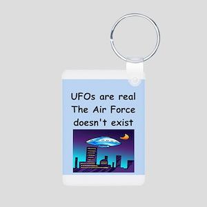 ufo Aluminum Photo Keychain