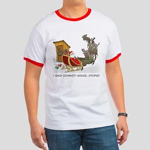 Schmidt House Cartoon Christmas T-Shirt