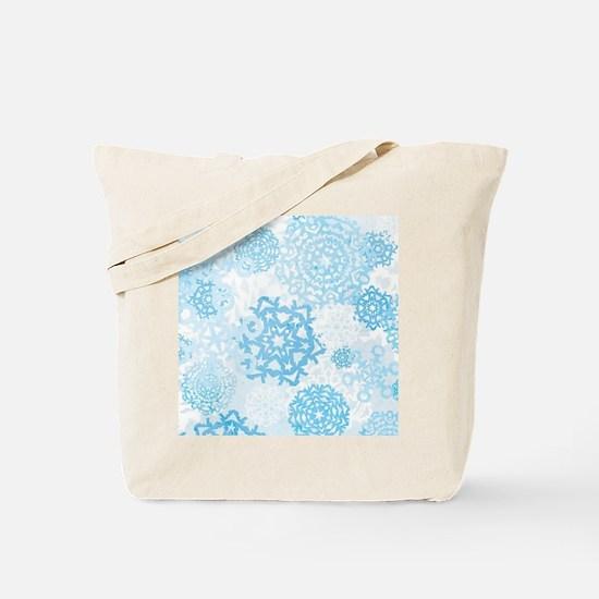 Grunge Snowflakes Tote Bag