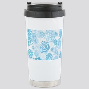 Grunge Snowflakes Travel Mug