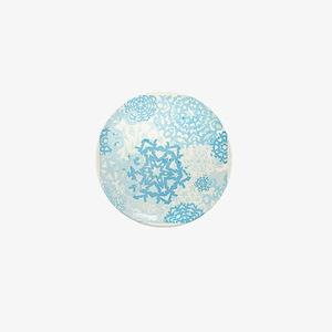 Grunge Snowflakes Mini Button